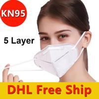 Одноразовые KN95 лица Маски с Elastic Ear Loop 5 слойный дышащий для блокировки маски пыли воздуха для предотвращения загрязнения