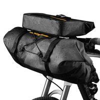Manubrio della bici della Borsa per valigia Borse nylon impermeabile in bicicletta anteriore del sacchetto di grande capienza Sport Basket Accessori Biciclette