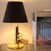 Современные смолы Металл Gun Table Lamp Villa Hotel Гостиная Спальня Рядом Reading Light Desk TA061