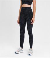 L-112 Spandex Женщины йоги Полный брюки высокой талией Спортивный зал Wear Леггинсы Упругие Фитнес леди Общая Длинные колготки тренировки Голые Брюки