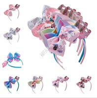 6Inch Cartoon Unicorn Haarspange Halloween beugt Barrettes Bowknot Kinder Hairpin Regenbogen-Farben-Band-Stirnband-Kind-Haar Headress D9702