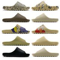 2020 Kaws slides Kanyet Oeste Resina Slides areia do deserto Terra Brown óssea Chinelos Bolos do pão Mens Womens Sandals Outdoor Flip Flops Tamanho 5-11