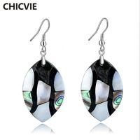 Dangle Chandelier Chicvie 2021 Etnico Natural Stone Abalone Shell Color Orecchini per le donne Luxury Semplice Moda Monili fatti a mano Earing