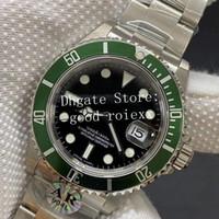 Antik Alaşım Yeşil Çerçeve Mens Otomatik Cal.3135 Hareketi AR Fabrika İzle Erkekler 50. Yıldönümü 16610 Saatler ETA 904L Çelik Saatı