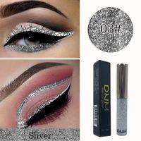 DNM 5ML الفضة بريق عينيه السائل كحل سريع الجفاف العين ماكياج للماء السائل كحل العين بطانة ماكياج