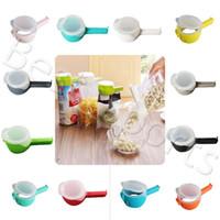 12 colori Seal Pour alimentari Storage Bag della clip di sigillamento del morsetto della clip con la grande bocche da cucina conservazione degli alimenti Strumenti YYA475 50pcs
