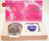 Chokers Chingmos Wish Pearl 20mm القفز دولفين قلادة قلادة للنساء مع المحار الحب العصرية هدية مربع المجوهرات