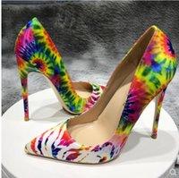 2020 Scarpe Fashion Designer di lusso delle donne Tacchi alti inferiore rossa in modo da stile kate 8 centimetri 10 centimetri 12 centimetri la punta del piede raso pompe Dress fiore Sneakers