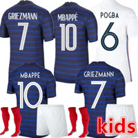 2020 Camiseta de Fútbol de Francia 2021 Euro Cup França Camisa de Futebol MBappe Pogba Grisezmann Kante Hernandez Varane Giroud Thauvin Rabio