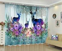 Tenda Drappa Babson Dazzle Color Moose 3D Stampa digitale DIY Avanzato Personalizzato Po