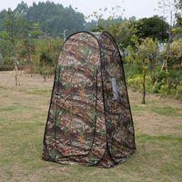 Douche de confidentialité Portable Folding toilettes Tente Ultraléger extérieur Pêche Randonnée Voyage Camping Up Camouflage Tente Changer