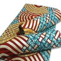 2020 di alta qualità africana cera dorata stampa Ankara moda tessuto stampato materiale 100% cotone cucito stile nigeriano 6 yarde / lotto