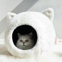 Chaud Pet Cat Lit Coussin Pet Kennel Pour Petit Moyen Grand Chiens Chats d'hiver pour animal de compagnie Maison Puppy Mat Taille M / L New LJ200918