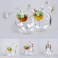 10cm Swan Glass Dab Rigs Multifounction Oil Burner 10mm Mini...