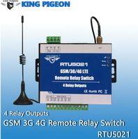Controle de Acesso de Impressão Digital Sem Fio GSM 3G 4G Relay Interruptor SMS Controlador Remoto 4 Saídas APP Timer Web Setting IoT Gateway Alarm System RT
