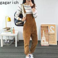 Gagarich Mulheres 2020 Outono New Pants Casual Coreano de estilo Moda All-jogo Moda Corduroy Macacões solto Slimming Wear