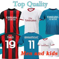 2021 AC soccer jerseys 20 21 Milan IBRAHIMOVIC BRAHIM TONALI THEO BENNACER REBIC LEAO ROMAGNOLI football jersey shirts Men kids Kit uniforms
