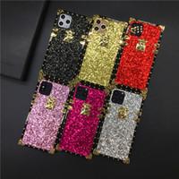 럭셔리 별빛 반짝이 커버 빛나게 스퀘어 케이스 아이폰 12 프로 MAX 11 PROMAX X XR XS MAX 7 8 플러스 도매 케이스 아이폰 (12)