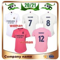 20/21 ريال مدريد الجديد امرأة الرئيسية رقم 7 HAZARD جيرسي لكرة القدم 2020 مدريد أسنسيو ISCO كروس MARCELO فتاة لكرة القدم قميص الزي الرسمي
