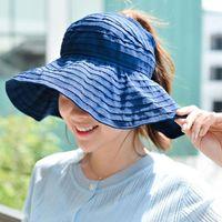 ワイドブリム帽子屋外の日焼け止め折りたたみ式女性の夕焼けぬ夏の紫外線保護女性トピックコットンキャップ太陽の帽子