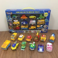 12 шт. / Установить Robocar Poli Корея игрушки робот Поли янтарь Рой тянуть обратно автомобильные игрушки аниме действия фигуры игрушки лучшие подарки для детей Y200919