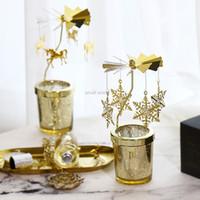 Europäische Merry-go-round Rotation Kerzenhalter Minimalist Moderne Candle Light Dinner Props Weihnachtsdekorationen für Haus