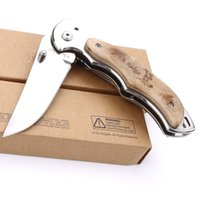 Wholesale Browning ER519 folding knife tactical camping EDC tool pocket knife survival knife outdoor cutting tools color box free shipping