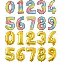 32 بوصة عدد البالون عيد حفل زينة اللون الألومنيوم احباط بالونات الزفاف المنزل مأدبة اللوازم HWE3141