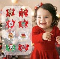 en épingle à cheveux de Noël Les enfants de Santa Hairpin Princesse Big Bow cheveux clip bowknot Pins cheveux Bobby Pin Barrette Parti Couvre-chef corde cheveux D9906