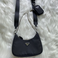 Luxurys 디자이너 패션 여성 메신저 가방 검은 나일론 어깨 핸드백 크로스 바디 안장 가방
