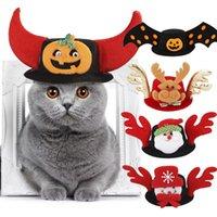 Fiesta de Halloween Navidad Cap los Mascotas divertido Headwear para el pequeño perro mascota sombrero del partido del festival Cabeza Sombrero accesorios tapa