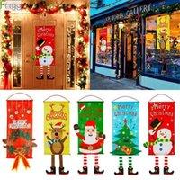 US STOCK SHART DHL Navire Joyeux Décorations de Noël pour la décoration de la porte Accueil Drapeau de Noël Ornements de Noël Fenêtre Suspending Navidad 2020 Nouvel An