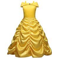4-10 Yıl Cosplay Prenses Kız Elbise Cadılar Bayramı Partisi Drama Balo Noel Kostüm Çocuk Giysileri