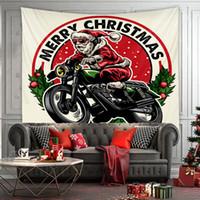 산타 클로스 선물 소프트 두꺼운 높은 품질 및 장식용 수석 예술 방수 천 깃발 배너 벽 카펫 벽 아트 크리스마스 장식 D