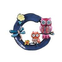 Broches de hiboux jaunes libellule dans la guirlande broche branchée badges décoration décoration enfants filles fête cadeau pins bijoux