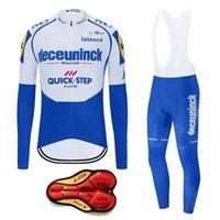 New 2020 Pro Team QUICK STEP Maillot cyclisme Ensembles Hommes vélo Vêtements de vélo vélo Salopette VTT Sets Ropa Ciclismo Maillot Wear
