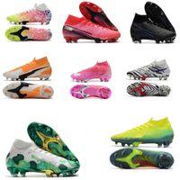 Mercurial Superfly VI 360 Elite FG KJ 6 XII 12 grampos do futebol Futebol chuteiras Homens Mulheres Neymar CR7 alta Futebol botas sapatos de futebol 35-45