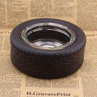 15.4 * 6cm Glas Reifen Aschenbecher Zylinder Shatterproof Zigarrengläser Aschenbecher rund Raucher Werkzeuge Gestalten Glasaschenbecher GGA3718-3