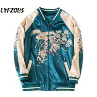 Yokosuka Phoenix Embroidery Jackets Women 2020 New Basic Jacket Thin Windbreaker Outwear Bomber Female Baseball Women Men Coat