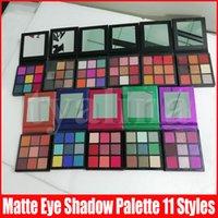 11 stijlen oog make-up oogschaduw palet 9 kleuren natuurlijke langdurige glans matte oogschaduwen paletten
