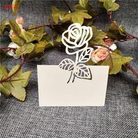 Grußkarten 10/50 stücke Weiß Laser Cut Name Mark Platz Hochzeitsdekoration Geburtstagsfeier Einladen Tisch Favor Geschenkkarte 5