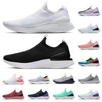 신발 Nike Epic React Flyknit 2 남성 여성 운동화 올 화이트 트리플 블랙 퓨터 air 퓨전 아웃 도어 트레이너 남성 스포츠 스니커즈