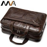 MVA Briefcase Mens Genuine Leather Bags Men Office Bag Leather Laptop Handbag Bag Man Business Briefcase 15 inch Laptop Bags