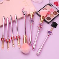 Nuove spazzole di trucco 8pcs Pro imposta Kit Sailor Moon capelli molli fard Correttore Ombretto FONDAZIONE Lip Brush Cosmetica Strumento