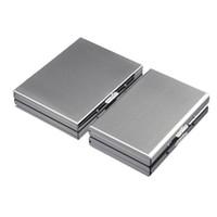 Zigaretten-Kasten 302 Edelstahlbehälter Neues Muster Ursprünglichkeit Silber plattiert Storage Box Geschenke Unternehmen Kostenloser Versand 11hy F2