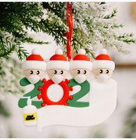 2020 di Natale Decorazioni regalo personalizzato di Natale ornamenti Babbo Natale sublimazione ornamenti albero di Natale appeso a sospensione