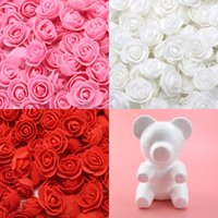 Buy Teddy bear of roses Valentine's Day present diy Handmade scrapbooking wedding bridal accessories clearance foam Mould wholesale