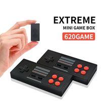 لعبة المحمولة اللاعبين المتطرفة البسيطة صندوق لعبة يمكن تخزين 620 ألعاب لاسلكي USB AV المغادرة 2.4G اللاسلكية مزدوجة جيم ب لعبة الفيديو المحمولة وحدة التحكم