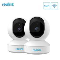 Mini Kameralar Reolink 4MP Güvenlik 2PACK IP Kamera 2.4 g / 5g Wifi Kültildi SD Kart Yuvası 2-Way Ses Kapalı E1 Pro