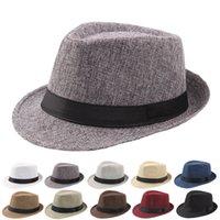 2020 Yeni Bahar Yaz Retro Erkek Şapka Fedoras Top Caz Ekose Şapka Yetişkin Bowler Şapkalar Klasik Sürüm chapeau